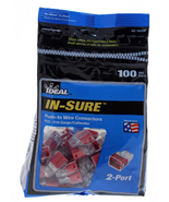 Ideal 32 Red In-Sure 2-Port Connectors (100-Pack)  - $18.95