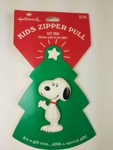 Primary image for Hallmark Holiday Christmas Kids Zipper Pull Snoopy Peanuts