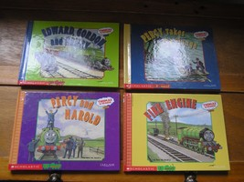 Lot of 4 Thomas & Friends Scholastic 2 Books in 1 Hardcover Books  - $7.69