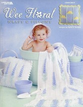 Wee Floral Wraps & Pillow to Crochet LA3584 Pattern/Instructions 5 Desig... - $5.37