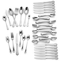 Lenox Wescott 82 Piece Flatware Set Service For 12 Stainless 18/10 Class... - $99.98