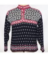 Vintage Ll Fagiolo Nero Fair Isle Fiocco di Neve Nordic Maglione Made IN... - $69.90