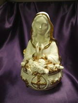 Ave Maria Hand Painted Porcelain of the Virgin Mary Music Box The Frankl... - $49.50