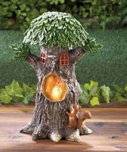 10018204 Summerfield Terrace Solar Rustic Squirrel Treehouse Accent Light - $25.60