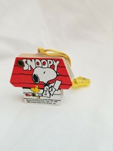 Vintage Peanuts Snoopy Woodstock Red Dog House Telephone Address Book - $20.29