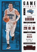 Aaron Gordon 2017/18 Panini Contenders Game Ticket Parallel Card #35 - $1.50
