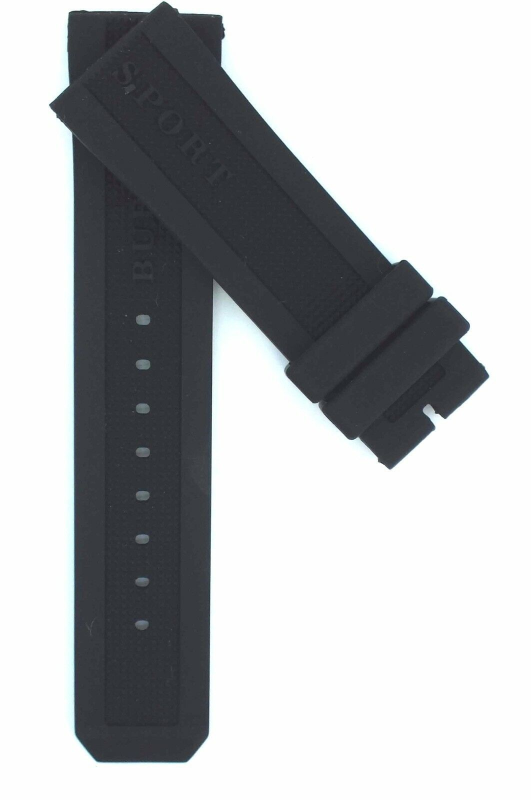 Compatible Burberry Sport BU7710 23mm Black Diver Rubber Watch Strap BRR103