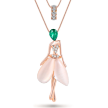 Fairy Cat Eye Crystal Necklace & Pendent - $29.23