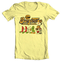 Burger Time T-shirt retro 80s arcade video game vintage 100% cotton graphic tee image 2
