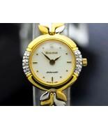 Bulova Ambassador Ladies Swiss 20mm Gold Plated Diamond Dress Watch 2000... - $494.01