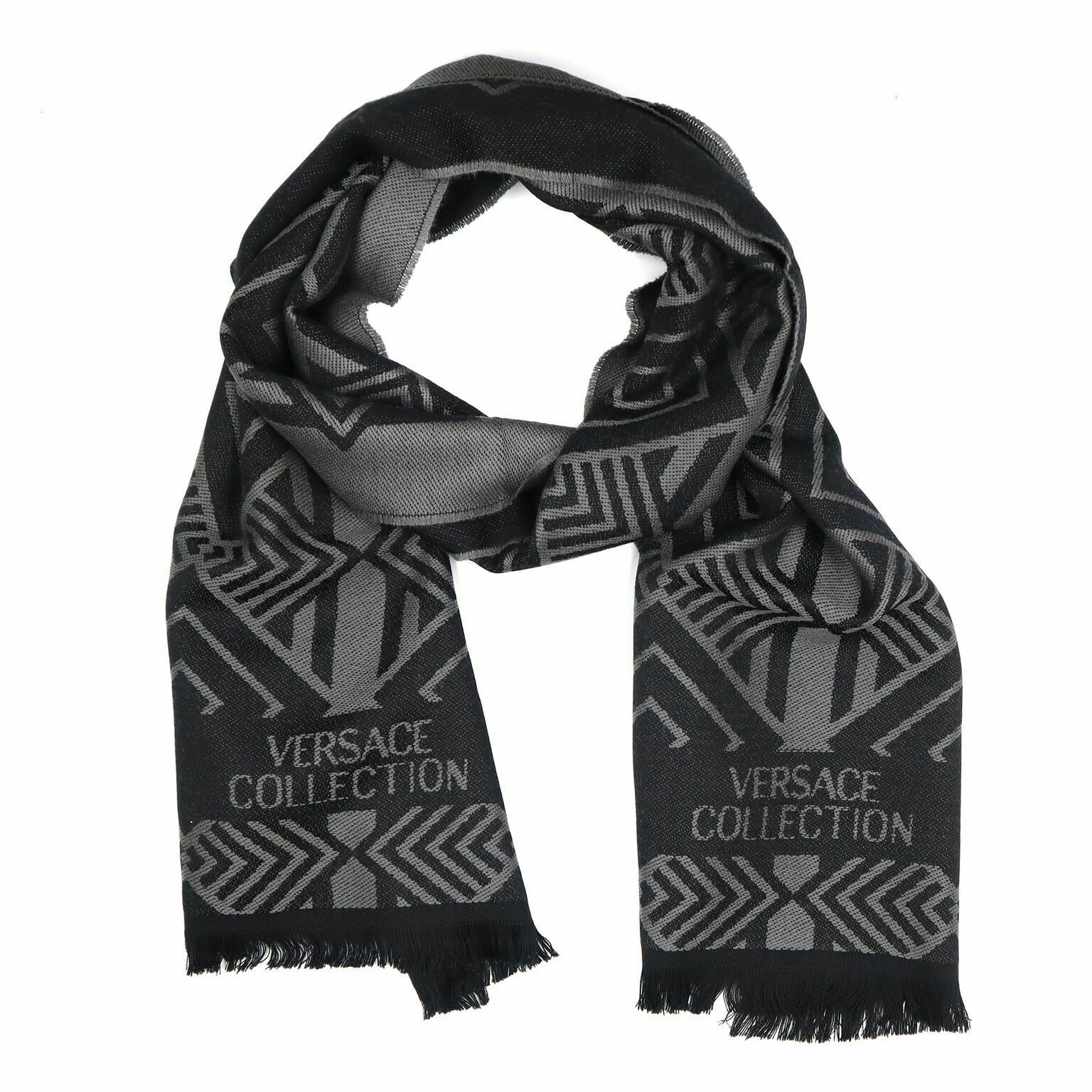Primary image for Versace Collection Black & Grey Mens Scarf ISC40R1WIT02856I4019
