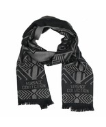 Versace Collection Black & Grey Mens Scarf ISC40R1WIT02856I4019 - $125.00