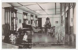 College Social Hall Interior Nazareth College Academy Kentucky postcard - $6.93