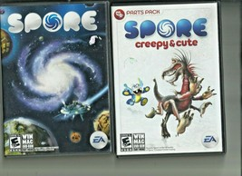 Spore plus Creepy and Cute parts pack  Video Game for Win Mac E-10+ EA - $12.86