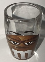 M&M's World Brown Big Face Clear Shot Glass New - $8.90