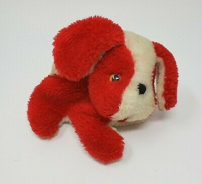 "Primary image for 5"" VINTAGE RUSS BERRIE TAFFY RED & WHITE PUPPY DOG STUFFED ANIMAL PLUSH TOY"
