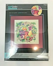 Counted Cross Stitch Array of Fruit Zweigart Artiste Traditional Wreath Basket  - $14.84