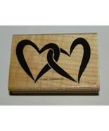 Interlocking Hearts Rubber Stamp Stampin Up Wood Mounted Retired Design ... - $6.78
