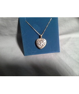Gold over SS Heart Diamond accent pendant with 18 in chain - $29.99