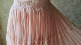 BLUSH Tiered Midi Skirt Blush High Waisted Tiered Tulle Skirt Plus Size image 7