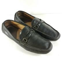 Johnston Murphy Mens Sz 9.5 M Loafers Driving Horse Bit Shoes Black Leat... - $36.27