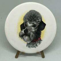 """Antique Vintage Victorian Poodle Dog Porcelain Art With Stand 3.5""""  - $18.00"""