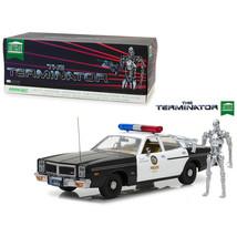 1977 Dodge Monaco Metropolitan Police with T-800 Endoskeleton Figure The... - $118.91