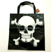 "Skull Reusable Tote Shopping Bag Gothic Goth Halloween Black Large 19""x1... - $5.99"
