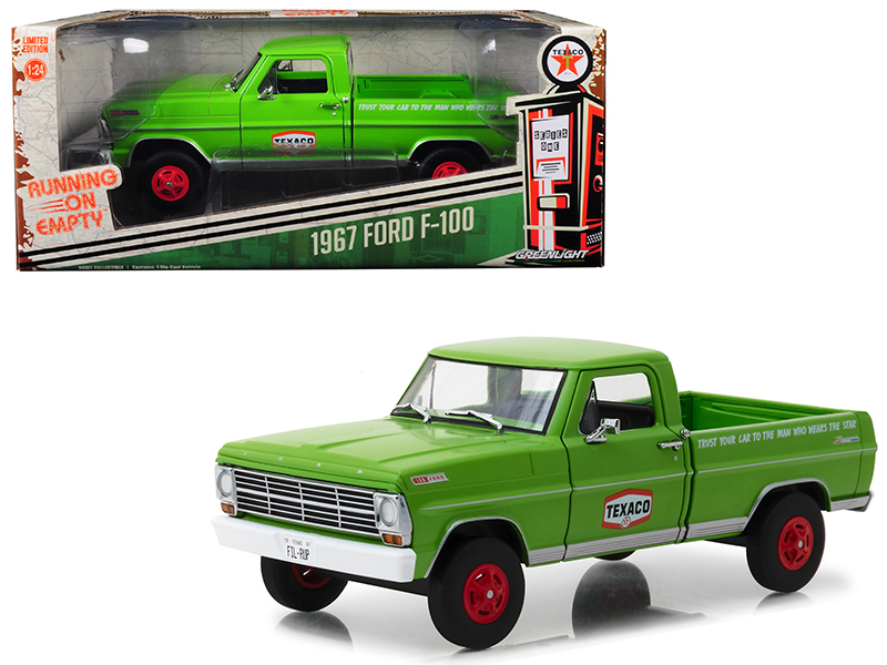 "1967 Ford F-100 Pickup Truck ""Texaco Motor Oil\"" Green Running on Empty Series"