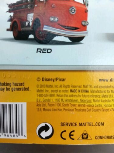 2010 Mattel sealed Disney Cars Pixar Double Decker Deluxe Bus metal toy figure  image 5
