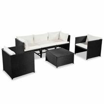 vidaXL Garden Sofa Set 18 Pieces Poly Rattan Wicker Outdoor Lounge Furni... - $328.99