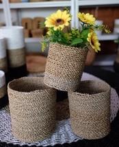 1 Set of 3 Craft Basket Eliot Full Natural Color Seagrass #VBE6 - $29.50