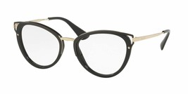 Hot New Authentic Prada Eyeglasses PR 53UV 1AB-1O1 made in Italy 52mm MMM - $205.88