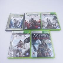 Assassin's Creed XBOX 360 LOT (Lot of 5) I, II, III IV Black Flag Revelations  - $26.99