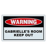 Novelty Warning Sign: Gabrielle's Room Keep Out - For Boys, Girls, Kids,... - $9.99