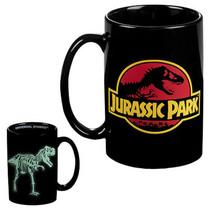 universal studios jurassic park glow in the dark ceramic coffee mug new - $29.69