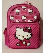 """Sanrio Hello Kitty Pink 16"""" Large Backpack with two front pockets, New w... - $17.88"""