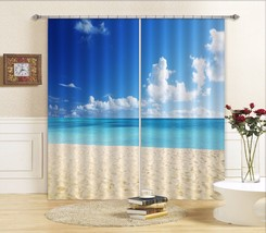 3D Sunny Beach0521 Blockout Photo Curtain Print Curtains Drapes Fabric Window UK - $145.49+