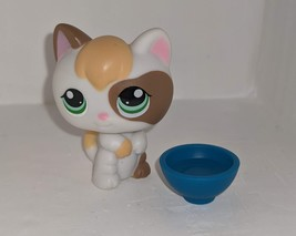 Littlest Pet Shop #1461 Calico cat with accessory  - $14.50