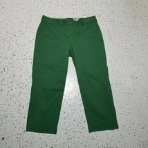 Talbots Signature Women's Capri Pants ~ Sz 8P ~ Green ~ Cotton Blend - $11.87
