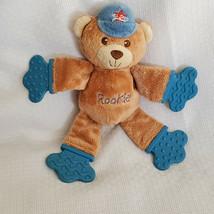 BRIGHT STARTS Teddy Bear Teether Rookie Baseball All Star Cap Plush Ratt... - $11.87