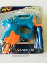 Hasbro Nerf N-Strike NanoFire Blaster Blue w/ 3X Elite Darts Toy - $8.88