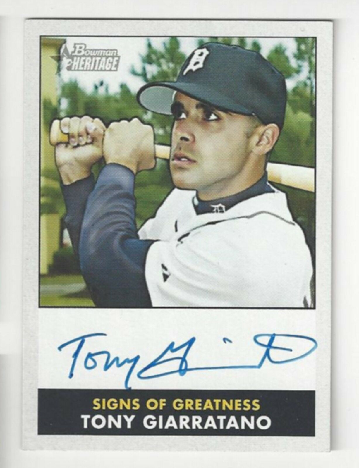 Primary image for 2007 Bowman Heritage Signs of Greatness - Tony Giarratano - #SG-TG - Autograph