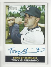 2007 Bowman Heritage Signs of Greatness - Tony Giarratano - #SG-TG - Autograph - $9.89