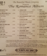 The Romance Album: 40 Songs of Love Disk 1  Cd image 2