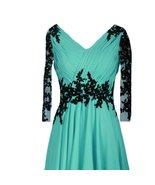 Vintage Sheer Long Sleeves V Neck Beaded Formal Prom Evening Dresses Plu... - $138.59