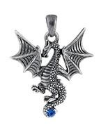 YTC Blue Tatsu Dragon Pendant Necklace - $12.85