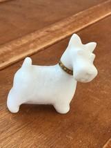 Vintage Avon Marked White Milk Glass Scottie Dog Perfume Figurine – 3.25... - $10.39
