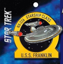 Star Trek Beyond Movie USS Franklin NX-326 Starship Metal Enamel Pin NEW... - $14.45