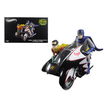 1966 Batcycle Elite Edition and Side Car with Batman and Robin Figures 1... - $187.99